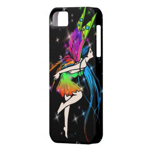 Hada w/Stars de la mariposa iPhone 5 Fundas