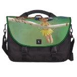 Hada y búho lindos bolsa para ordenador