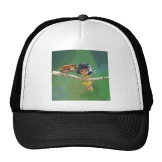 Hada y búho lindos gorras de camionero