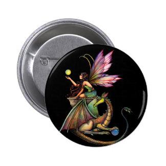 Hada y dragón de los orbes del dragón por Molly Ha Pin Redondo 5 Cm