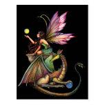 Hada y dragón de los orbes del dragón por Molly Ha Tarjeta Postal