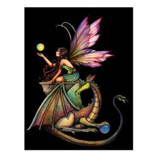 Hada y dragón de los orbes del dragón por Molly Tarjetas Postales