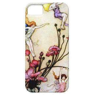 Hada y flores iPhone 5 cárcasa