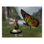 Hada y mariposa posters