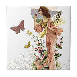 Hada y mariposas del Victorian Tejas Cerámicas