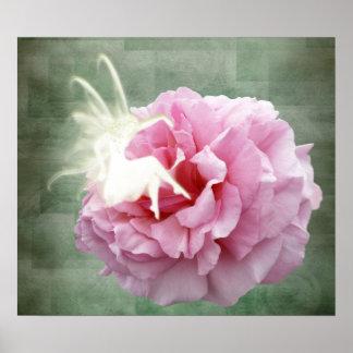 Hada y poster color de rosa