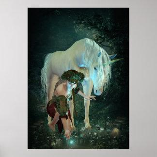 Hada y poster de la magia del unicornio
