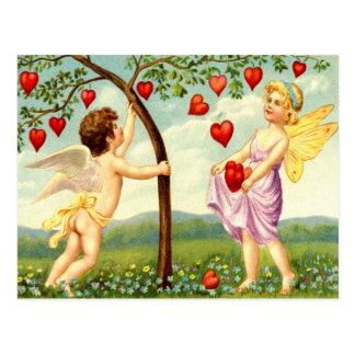 Hada y querube de la tarjeta del día de San Valent Tarjetas Postales