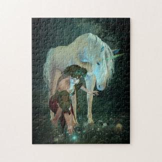 Hada y rompecabezas de la magia del unicornio