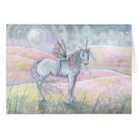 Hada y tarjeta del unicornio