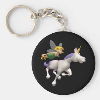 Hada y unicornio llavero