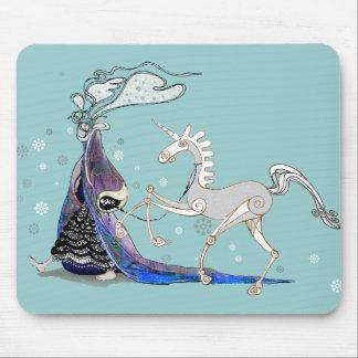 Hada y unicornio tapete de raton