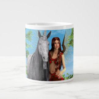 Hada y unicornio taza grande