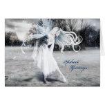 Hada Yule del invierno Tarjeta De Felicitación