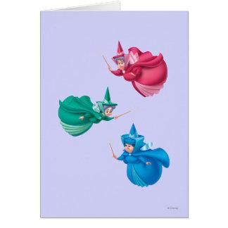 Hadas de la bella durmiente tarjeta de felicitación