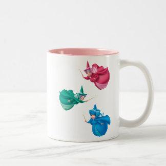 Hadas de la bella durmiente taza de café