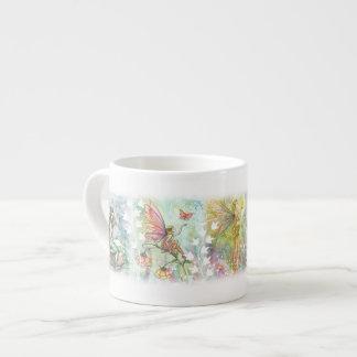 Hadas de la flor del jardín taza de espresso