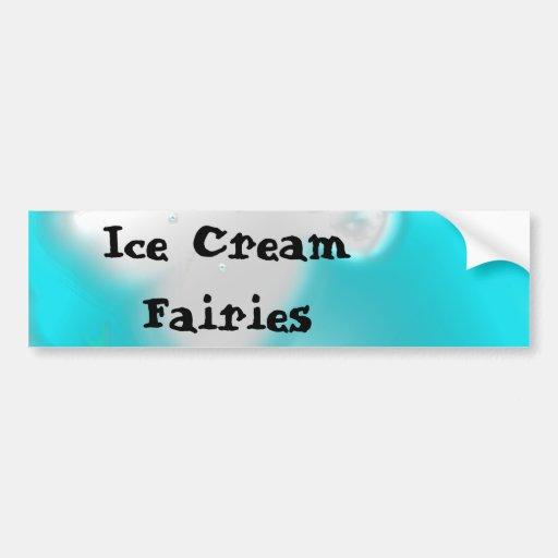 Hadas del helado etiqueta de parachoque