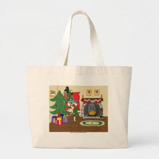 Hadas del navidad que arreglan el bolso del árbol bolsas de mano