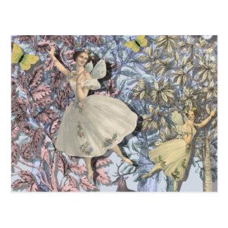 Hadas en el bosque mágico tarjetas postales