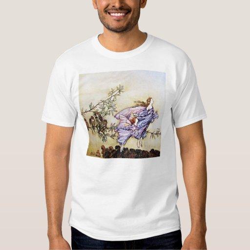 Hadas en la camiseta de los árboles camisas