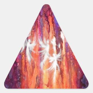 Hadas ligeras calcomanías triangulos personalizadas