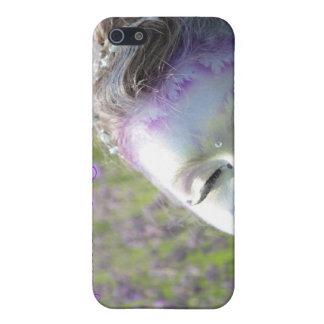 Hadas preciosas de la lavanda del caso fresco del iPhone 5 fundas