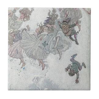 Hadas que caen, los cuentos de hadas de Andersen Azulejos Cerámicos