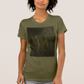 Hadas que miran a través de un arco gótico 1864 camisetas