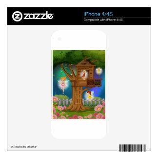 Hadas que vuelan en el jardín skins para iPhone 4S