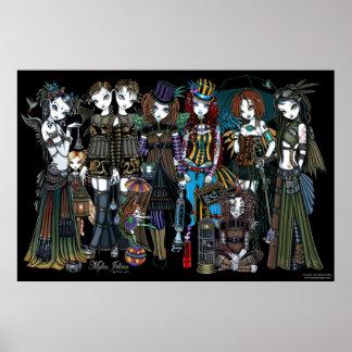 Hadas tribales góticas del circo de Myka Jelina St Póster