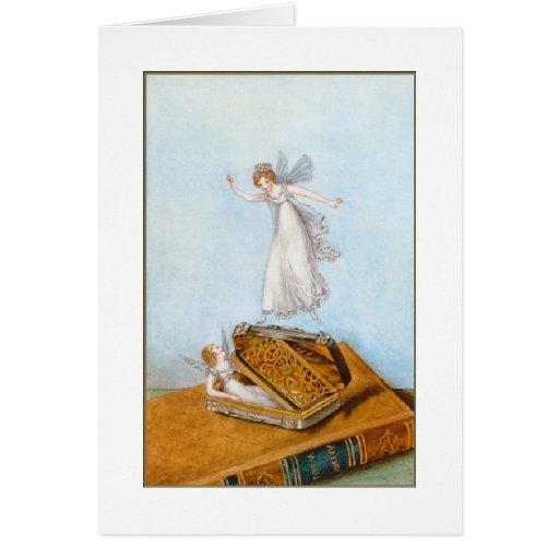 Hadas y un libro tarjetón