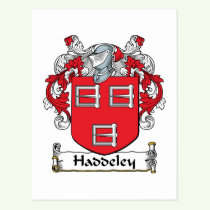 Haddeley Family Crest Postcard