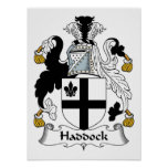 Haddock Family Crest Poster