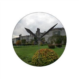 Haddon Hall and Gardens Round Wall Clock