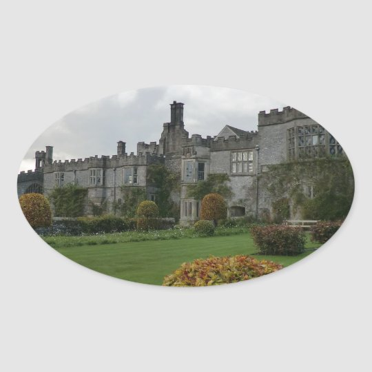 Haddon Hall and Gardens Oval Sticker