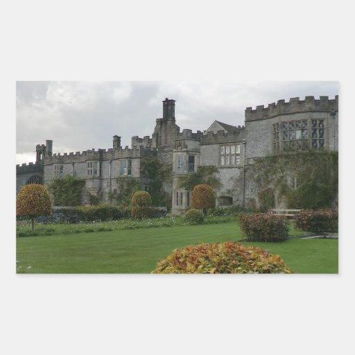 Haddon Hall and Gardens Rectangular Sticker