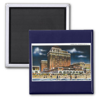 Haddon Hall, Atlantic City, New Jersey 2 Inch Square Magnet