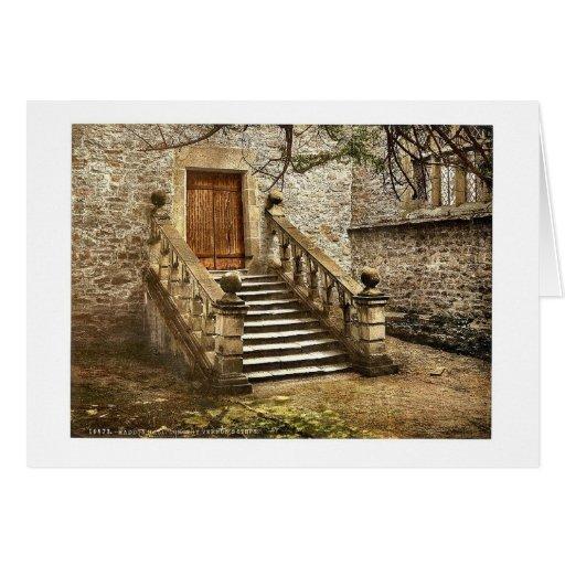 Haddon Hall, Dorothy Vernon's Steps, Derbyshire, E Greeting Card