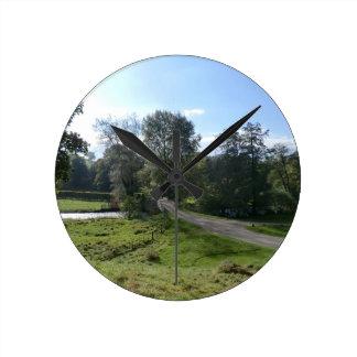 Haddon Hall Driveway Wallclock