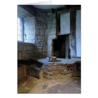 Haddon Hall Medieval Kitchen Greeting Card