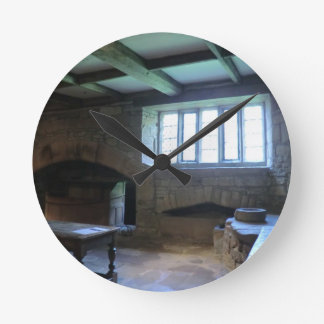 Haddon Hall Medieval Kitchen Round Wall Clocks