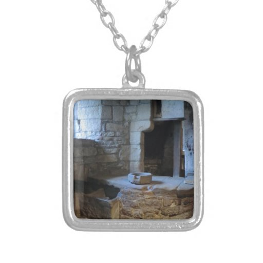 Haddon Hall Medieval Kitchen Square Pendant Necklace