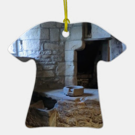 Haddon Hall Medieval Kitchen Double-Sided T-Shirt Ceramic Christmas Ornament