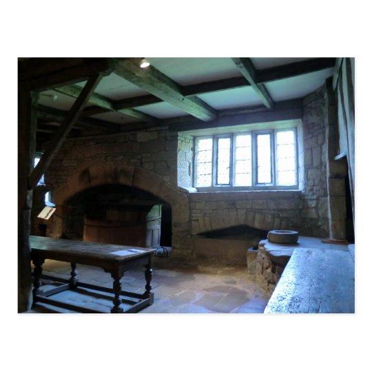 Haddon Hall Medieval Kitchen Postcard