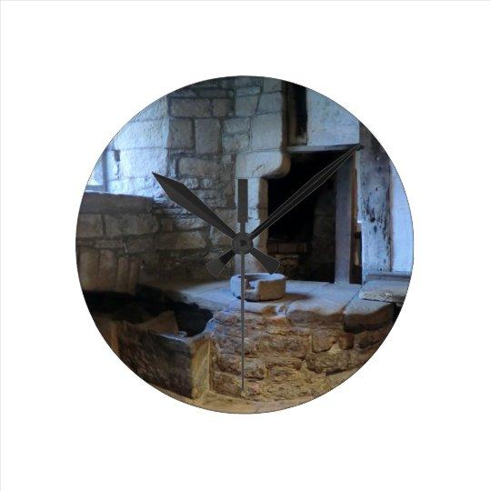 Haddon Hall Medieval Kitchen Round Clock