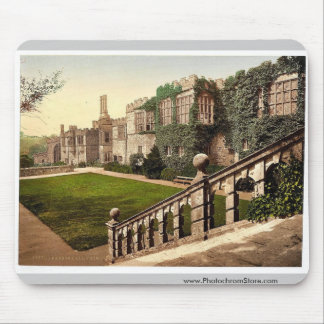 Haddon Hall, steps, Derbyshire, England classic Ph Mouse Pads