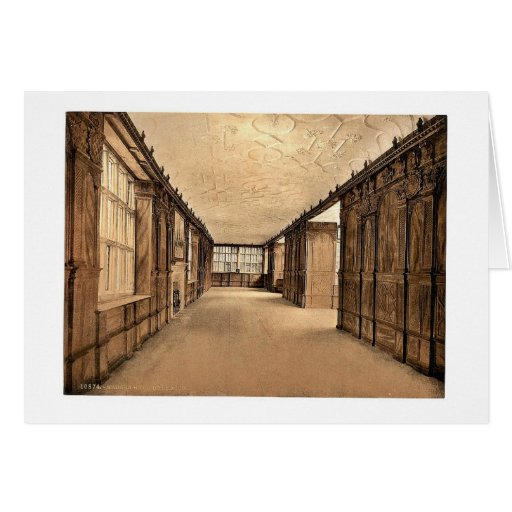Haddon Hall, the ball room, Derbyshire, England cl Greeting Card
