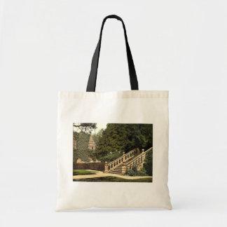 Haddon Hall, the terrace steps, Derbyshire, Englan Canvas Bags