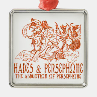 Hades and Persephone Square Metal Christmas Ornament